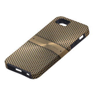 Brushed Gold Plate With Dots iPhone 5 Cover