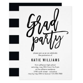 Brushed Graduation Party Invitation