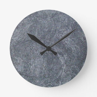 Brushed Grey Stone Granite Texture Background Round Clock