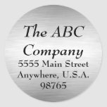 Brushed Metal Address Labels Stickers