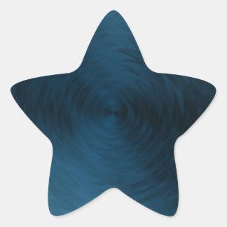 Brushed Metal Blue Steel Metallic Abstract Star Sticker