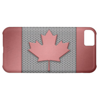 Brushed Metal Canadian Flag iPhone 5C Case