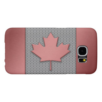 Brushed Metal Canadian Flag Samsung Galaxy S6 Cases