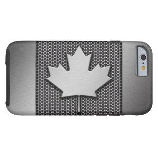 Brushed Metal Canadian Flag Tough iPhone 6 Case
