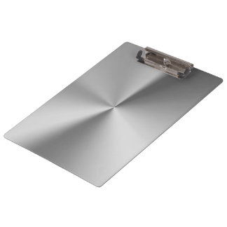 Brushed metal clipboard