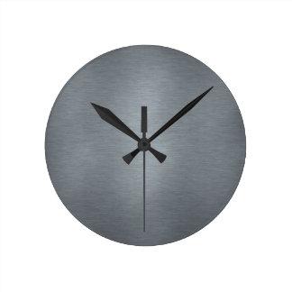 Brushed Metal Clock