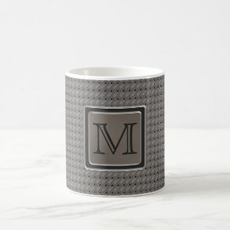Brushed Metal Grille Look with Monogram Coffee Mug