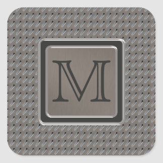 Brushed Metal Grille Look with Monogram Square Sticker