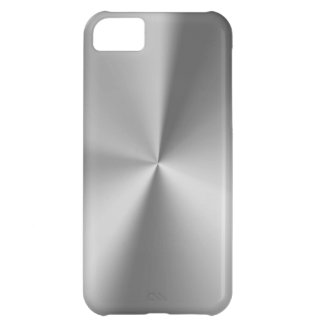 Brushed metal iPhone 5C case
