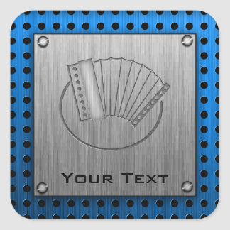 Brushed metal-look Accordion Square Sticker