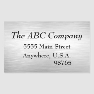 Brushed Metal Look Address Labels Stickers