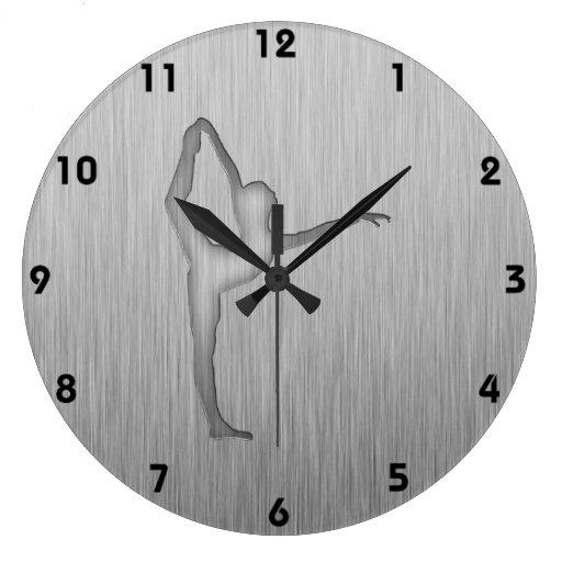 Brushed Metal-look Ballet Wall Clock