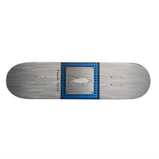 Brushed metal-look Baseball Skate Decks