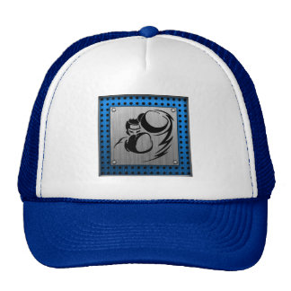 Brushed metal look Boxer Hats