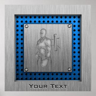 Brushed Metal-look Boxing Poster