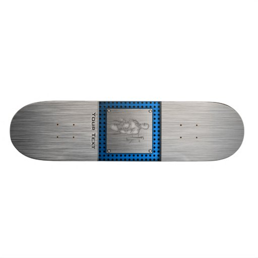 Brushed Metal-look Boxing Skateboard Deck