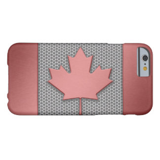 Brushed Metal Look Canadian Flag Barely There iPhone 6 Case