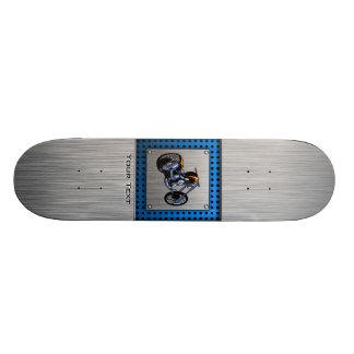 Brushed Metal-look Chopper 21.6 Cm Old School Skateboard Deck