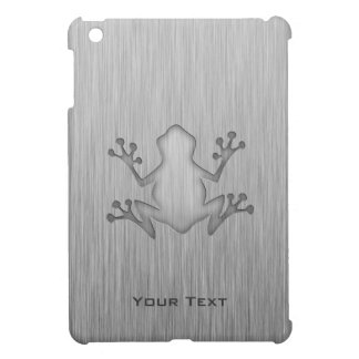 Brushed Metal look Frog iPad Mini Case