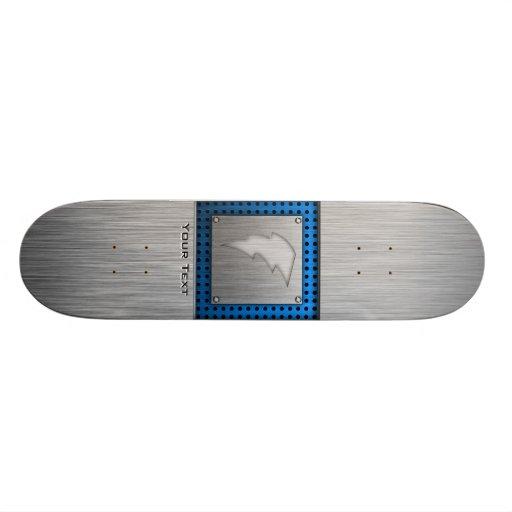 Brushed Metal-look Lightning Bolt Skate Decks