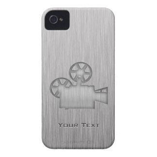 Brushed Metal-look Movie Camera iPhone 4 Cases