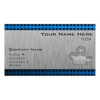 Brushed Metal-look Movie Camera Pack Of Standard Business Cards