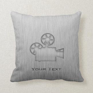 Brushed Metal-look Movie Camera Throw Cushions