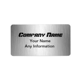 Brushed Metal Look Return Address Labels