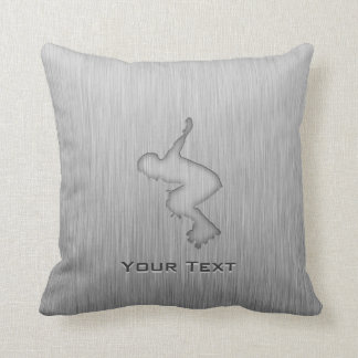 Brushed Metal-look Rollerblading Cushion