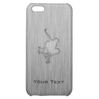 Brushed Metal-look Skateboarding iPhone 5C Cases
