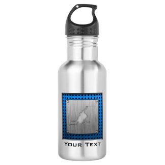 Brushed Metal-look Snow Skiing 532 Ml Water Bottle