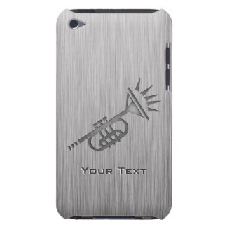 Brushed metal-look Trumpet Barely There iPod Cases