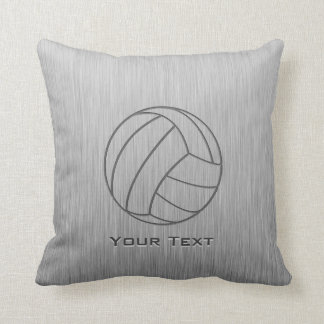 Brushed Metal-look Volleyball Cushion