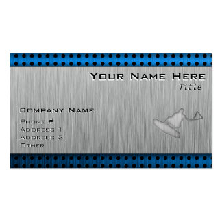 Brushed Metal-look Wakeboarder Pack Of Standard Business Cards