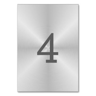 Brushed Metal Table Number
