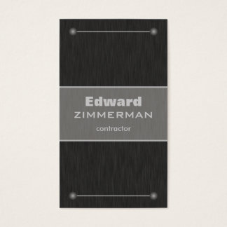 Brushed Metal: Titanium Textured Business Card