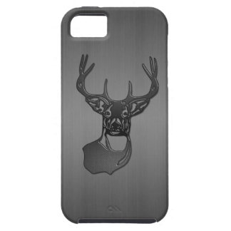 Brushed Metal - White Tail Buck Deer iPhone 5 Cover