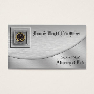 Brushed Platinum Attorney  Business Card