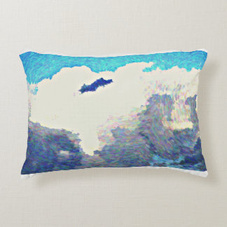 Brushed Poly Accent Pillow - Monsoon Clouds in Oil
