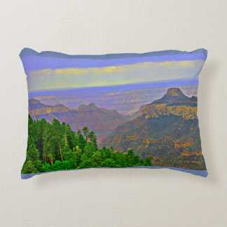 Brushed Poly Throw Pillow -Grand Canyon In Cartoon