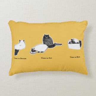 Brushed Polyester Customizable Cat Pillow