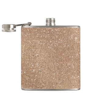 Brushed Rose Gold Hip Flask