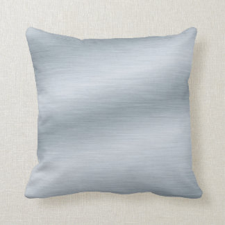 Brushed Silver Look Background Cushion