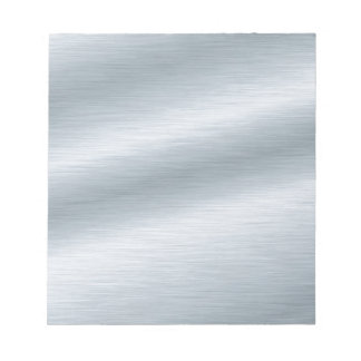 Brushed Silver Look Background Notepad
