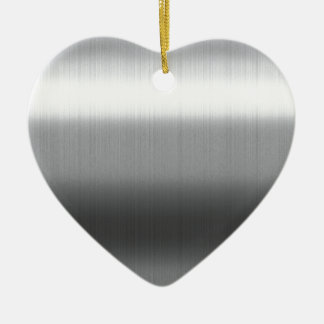Brushed Stainless Ceramic Heart Decoration