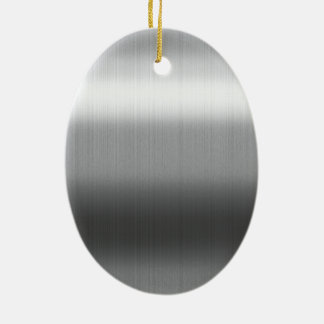 Brushed Stainless Ceramic Ornament