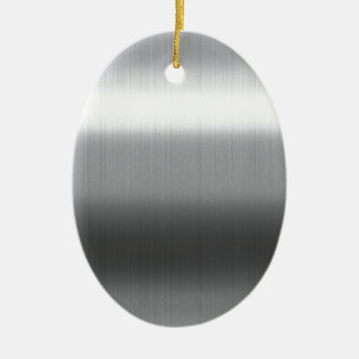 Brushed Stainless Ceramic Oval Decoration