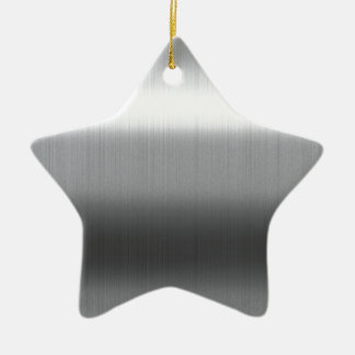 Brushed Stainless Ceramic Star Decoration