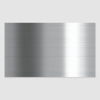 Brushed Stainless Rectangular Sticker