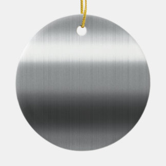 Brushed Stainless Round Ceramic Decoration